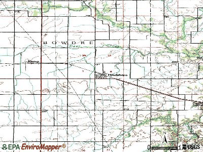 Hindsboro topographic map