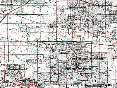Hoffman Estates topographic map