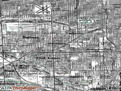 Hometown topographic map