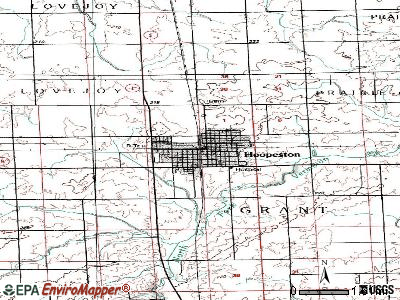 Hoopeston topographic map