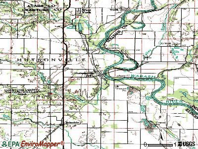 Hoyleton topographic map