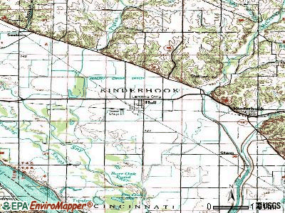 Hull topographic map