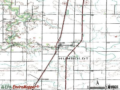 Humboldt topographic map