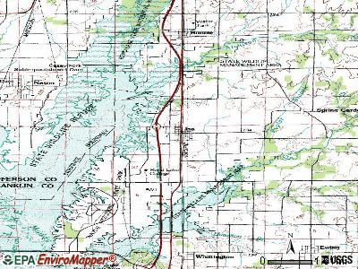 Ina topographic map