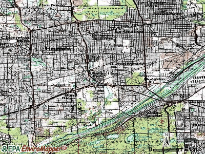 Indian Head Park topographic map