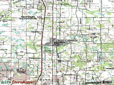 Johnston City topographic map