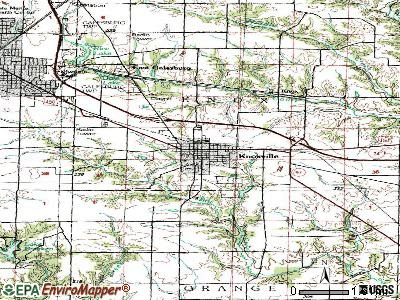 La Grange topographic map