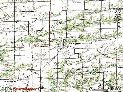 La Harpe topographic map