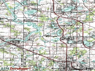 Lake Barrington topographic map
