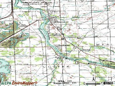 Lakewood Shores topographic map