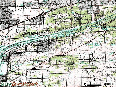 Lemont topographic map