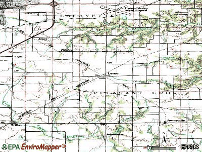 Lerna topographic map