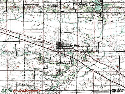 Le Roy topographic map