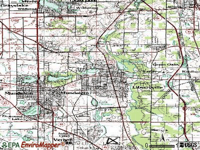 Libertyville topographic map