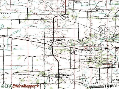 Lily Lake topographic map