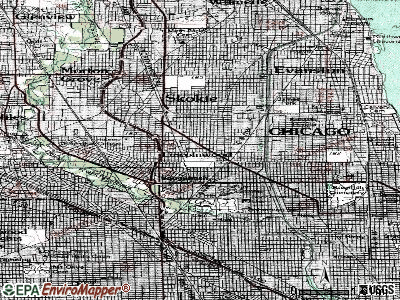Lincolnwood topographic map
