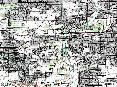 Lisle topographic map