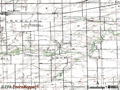 Loami topographic map