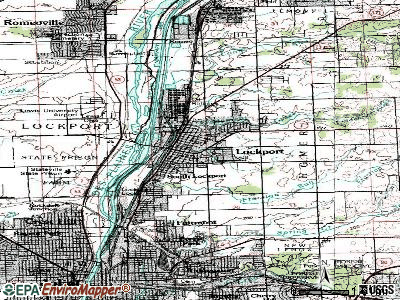 Lockport topographic map