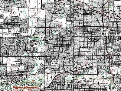 Lombard topographic map