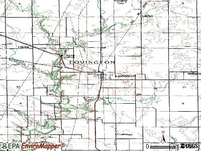 Lovington topographic map