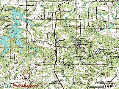 Makanda topographic map