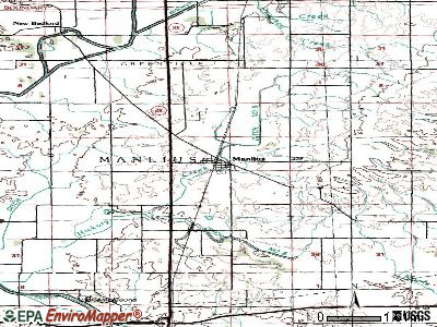 Manlius topographic map