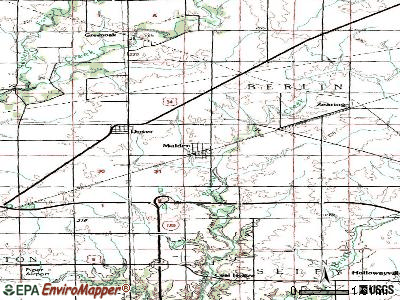 Mansfield topographic map
