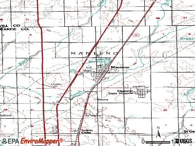 Manteno topographic map
