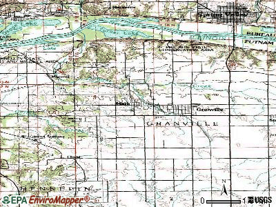 Mark topographic map