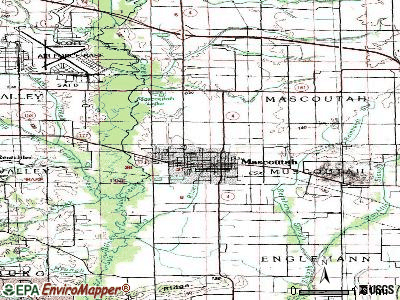 Mascoutah topographic map