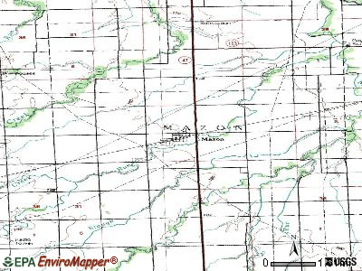 Mazon topographic map