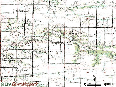 Media topographic map