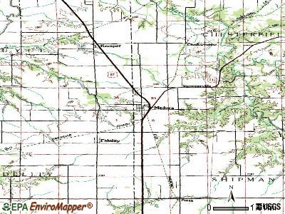 Medora topographic map