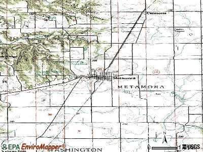 Metamora topographic map