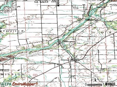 Millington topographic map