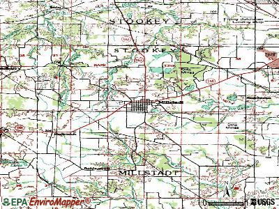 Millstadt topographic map