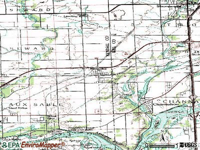 Minooka topographic map