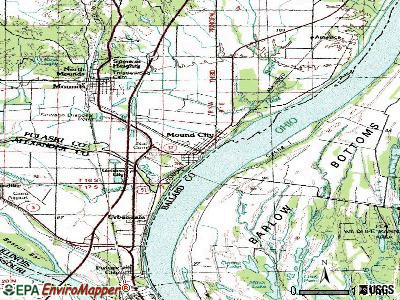 Mound City topographic map