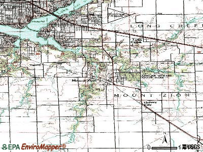 Mount Zion topographic map