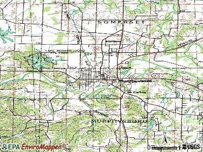 Murphysboro topographic map