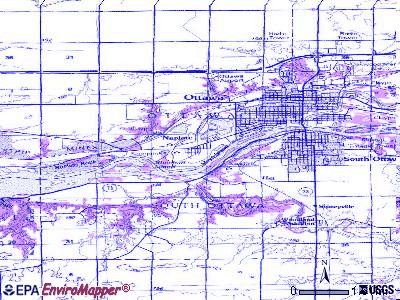 Naplate topographic map