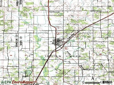Norris City topographic map