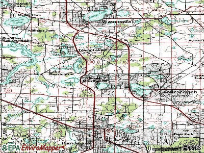 North Barrington topographic map