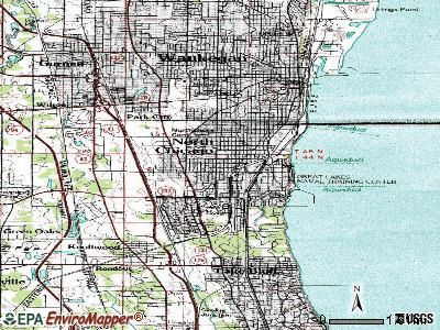 North Chicago topographic map