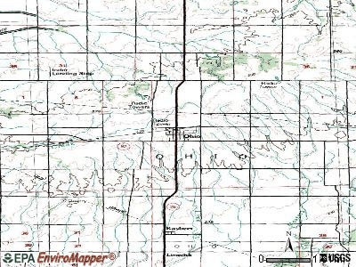 Oblong topographic map