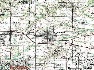 O'Fallon topographic map