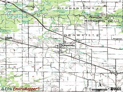 Okawville topographic map