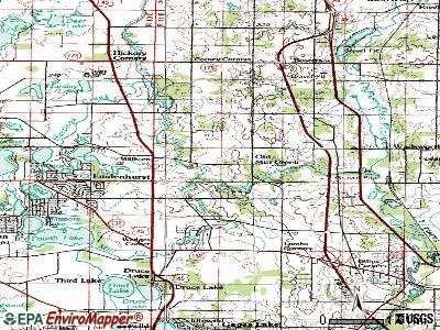 Old Mill Creek topographic map