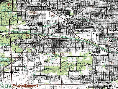Palos Heights topographic map